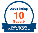Avvo Rating Superb - Top Attorney Criminal Defense</a>